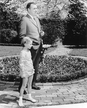 Governor Kirk with daughter, ca.1968