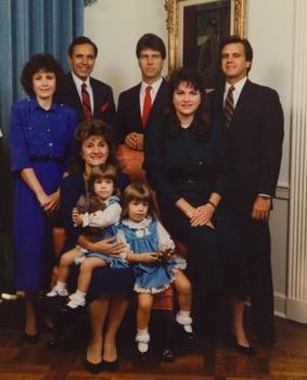 Governor & Mrs. Martinez with family, 1989