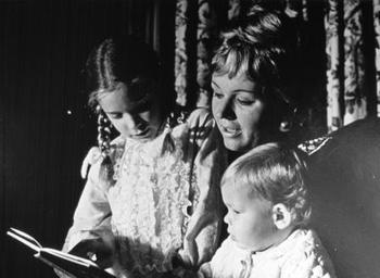 Mrs. Kirk & children, ca. 1969