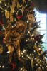 closeup of cherub on christmas tree