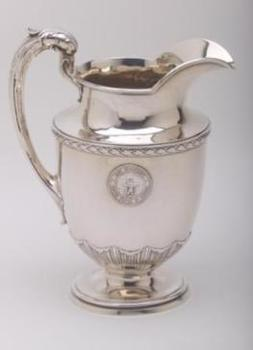 USS Florida silver water pitcher
