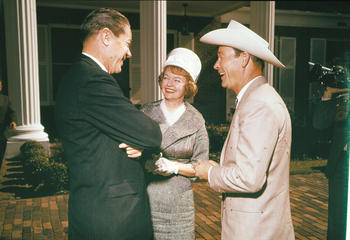 Governor Burns with Mr. & Mrs. Roy Rogers, ca. 1966