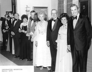 Governor & Mrs. Askew [far right], 1975