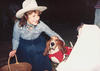 Mrs. Martinez with dog, Mascotte, ca. 1988