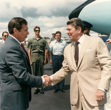 President Reagan with Governor Martinez, ca. 1988